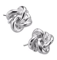 """Sterling Silver Knot Earrings, Intro $14.99 (will be $29.99). Pierced.   STERLING SILVER is the standard for fine silver jewelry in the world over. Only Sterling Silver can be stamped with a """"fineness mark"""" of .925 indicating its high quality. www.youravon.com/summarah"""