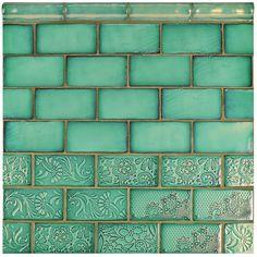 SomerTile 3x6-inch Antiguo Feelings Lava Verde Ceramic Wall Tile (Pack of 8)