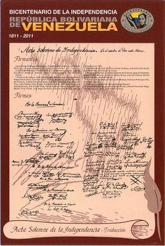 Postal: Acta Solemne de la independencia - Traduccion 3/3 (Venezuela) (Ipostel - Bicentennial of Independence) Col:ve_ipostel_BIAS_03