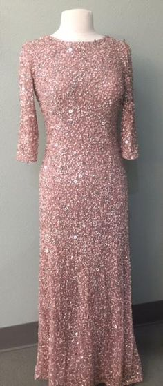 547491919970 One time cutting - Limited Availability - in stock sizes only This dazzling dress is available only in antique rose. Best Prom Dresses, Fall Dresses, Bride Dresses, Dresses Near Me, Fashion Mask, Gowns With Sleeves, Groom Dress, Formal Wear, Dress For You