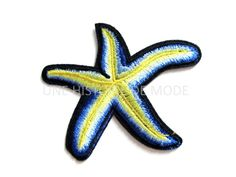 Patch , écusson thermocollant étoile de mer à coudre ou repasser 85 x 70 mm - PPE47