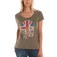 T-shirt met doodskopprint TÊTE DE MORT LONDON