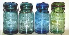 Finally got a couple blue vintage ones , like this with glass lids !!! Happy !!!