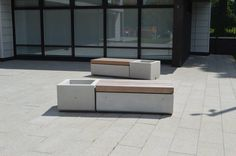 Metrolinia Seating & Planters, Eastland Homes, Manchester Street Furniture, Marshalls, Manchester, Concrete, Planters, Homes, Ideas, Banks, Houses