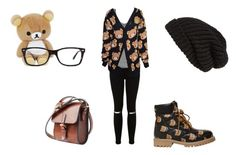 """""""Bears"""" by luna2015 ❤ liked on Polyvore featuring Moschino, Miss Selfridge, Ray-Ban, Tarnish, Étoile Isabel Marant and Toast"""