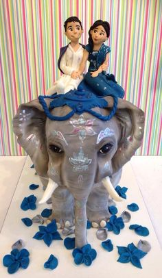 Elephant Wedding Cake - this is just adorable. Indian Wedding Cakes, Themed Wedding Cakes, Amazing Wedding Cakes, Themed Cakes, Indian Cake, Elephant Food, Elephant Cakes, Indian Elephant, Cupcakes