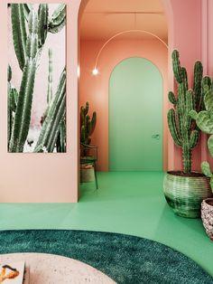 Interior Exterior, Home Interior Design, Luxury Interior, Palm Springs Interior Design, Colorful Interior Design, Color Interior, Deco Miami, Design Transparent, Design Retro