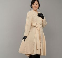 Gorgeous morano and mohair coat - I wonder how many years it would take me to knit it.  27 skeins!
