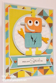 Made for Quick Cards Made Easy using Marianne Design Robot Die Set.