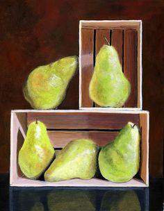 Still Life with Pears by Karyn Robinson Still Life Art, Life Design, Pears, Be Still, Art For Sale, Fine Art America, Original Art, Fruit, The Fruit