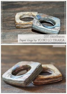 DIY Paper Ring Tutorial by YO NO LO Tiraria for 2nd Funniest Thing here. For more paper ring inspiration and tutorials go here: truebluemeandyou.tumblr.com/tagged/paper-rings
