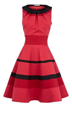 Karen Millen Colourblock dress red multi