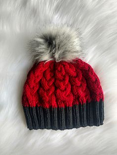 Ravelry: Cablevision Beanie pattern by Payneless Ideas Beanie Knitting Patterns Free, Crochet Beanie Pattern, Baby Hats Knitting, Knit Or Crochet, Loom Knitting, Hand Knitting, Knitted Hats, Crochet Patterns, Crochet Hats