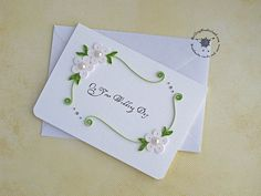 Quilled wedding card congratulations floral by QuillingWonderland