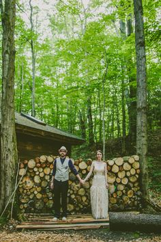 Beautiful forest wedding photo