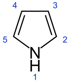 Pyrrole is a heterocyclic aromatic organic compound, a five-membered ring with the formula C4H4NH.