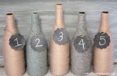wine bottle wedding table numbers - Google Search