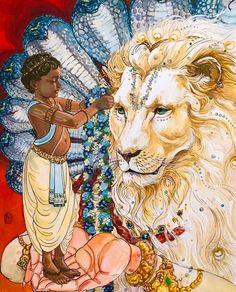 Why did Lord Shiva take the avatar of Sharabha? Lord Vishnu, Lord Shiva, Señor Krishna, Krishna Mantra, Avatar, Lord Krishna Wallpapers, Krishna Painting, Krishna Drawing, Lord Krishna Images