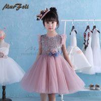 2017 Niosung New 1PC Girls Kids Full Lace Floral One Piece Dress Child Princess Party Dress Sleeveless o neck Dress T008