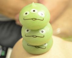 Little green men mochi balls from DisneySea