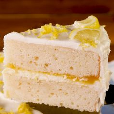This lemon cake make look oldschool and humble but its truly nextlevel The bright flavor is bold enough to wake you up And the lemony cream cheese frosting is so good you. Cupcake Recipes, Cupcake Cakes, Dessert Recipes, Cheesecake Recipes, Lemon Layer Cakes, Lemon Creme Cake, Lemon Velvet Cake, Lemon Cakes, Homemade Lemon Cake
