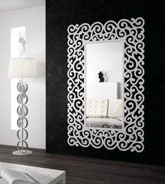 Espejos vestidores modelo SANDRA blanco. Decoración Beltrán, tu mayor tienda online en espejos originales.