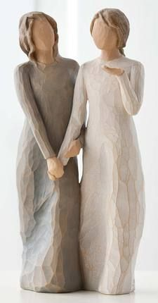 Demdaco Willow Tree Figurines by Susan Lordi: Sisters by Heart and My Sister, My Friend
