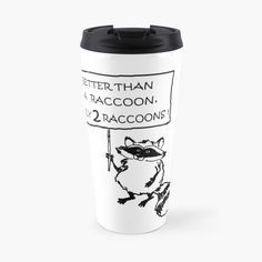 Raccoons, Travel Mug, Art Prints, Mugs, Printed, Awesome, Tableware, Gifts, Products