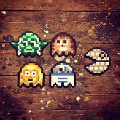 Pac man ghosts, star wars version perler beads