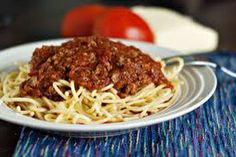 Moms spagetti sauce for a hoard  6 pounds of ground beef 1/3 cup oil 8 tablespoons onion, minced  1 15oz tomato sauce 1 28oz crushed tomato 1 28oz peeled tomatoe 1 tablespoon garlic, minced  3 teaspoons salt 4 1/2 teaspoons black pepper  2/3 cup sugar 8 tablespoons chili powder  3 tablespoons vinegar  1 teaspoon Rosemary  1/2 teaspoon basil   Brown beef, drain. Add remaining ingredients and simmer 6 to 7 hours