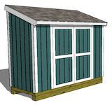 4x10 lean-to shed plan.