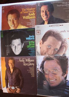 lot of 6 Andy Williams Vinyl Record Albums - Good Shape!