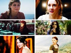 Annabeth Chase - Tris Prior - Hermione Granger - Clary Fray/Fairchild - Katniss Everdeen - Lucy Pevensie ~~~ In all but Hunger Games