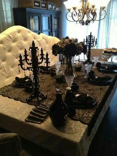 Loving this gothic decor