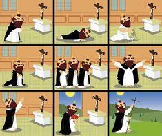 Gioventù Domenicana sur Instagram: 👉 Conosci i Nove Modi di pregare di San Domenico? Se la risposta è no... dai un'occhiata all'immagine! ✍ Leggi la catechesi di papa… Saint Dominic, Instagram, Saints, Santo Domingo