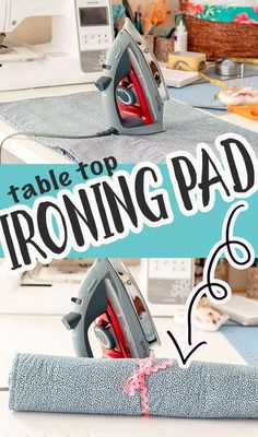 sew a simple ironing pad to save space. DIY heat protective pad for ironing on your table or counter.  Simple sewing and a useful home project.
