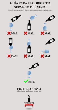 El servicio del vino es importantísimo, aprender a servir adecuadamente dicho líquido elemento nos ayudará a no quedar como unos panolis la próxima vez que nuestro cuñado nos traiga a casa una botella de las caras.
