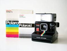 Polaroid Rianbow Onestep Timezero SX70 camera w by HOLGAHOJAN,   Rainbow Polaroid 70's vintage