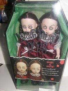 Living Dead Dolls Hazel & Hattie 2000 Mezco usine scellés dans la boîte de cercueil