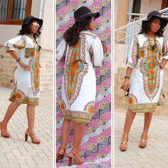 African Women Clothing Newest White Dashiki Fashion Dress Succunct African Tranditional Print V Neck Dashiki Dress for Women - Blue Kangaroo African Fashion Designers, African Men Fashion, Africa Fashion, African Women, Fashion Women, Fashion 2016, Ethnic Fashion, Dashiki Shirt, Dashiki Dress