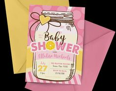 Pink Lemonade Baby Shower Invitation Lemonade baby shower