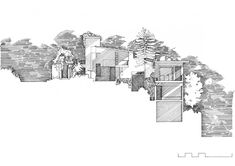 Z House: By Donovan Hill - Architectural section drawing Coupes Architecture, Architecture Graphics, Architecture Drawings, Architecture Portfolio, Landscape Architecture, Architecture Design, Parametric Architecture, Autocad, Landscape Drawings