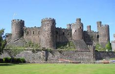 Conway Castle   Slighted Medieval Spur Castle in Conway, Wales