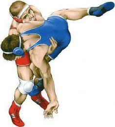 Dibujo lucha. Wrestling