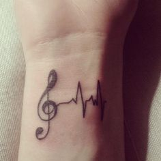 """27 Creative And Personal Music Tattoos"" -- Some very unusual and clever ones at the click-through. [Source for the one shown: https://twitter.com/camilanesas/status/350742056303460353/photo/1]"