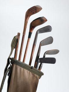 Classic set of Hickory Sticks. Hickory Golf, Vintage Golf Clubs, Recreational Sports, Golf Player, Golf 1, Golf Courses, Hickory Sticks, Antiques, Classic