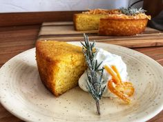 orange cornmeal cake with candied rosemary and orange bourbon soak — Beneath the Crust Frost Bakery, Banana Crumble, Oatmeal Lace Cookies, Whipped Cream Desserts, Pumpkin Cinnamon Rolls, Candied Orange Peel, Oat Bars, Almond Cakes, Cake Ingredients