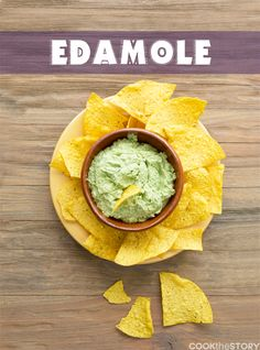 A Guacamole Recipe with Edamame instead of avocados! This Mexican Edamame Dip is lower fat and has more protein than guacamole and is perfect for avocado-haters.