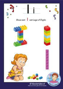 How to build a J with Lego or Duplo, kindergarten expert, free printable Lego Letters, Letters For Kids, Math For Kids, Alphabet Letters, Letter Worksheets, Lego House, Lego Instructions, Letter B, Lego Batman