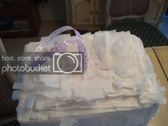 Fancy Frugally: How to make a pull-string pinata from scratch Gender Reveal Pinata, Hello Kitty Themes, 4th Birthday, To My Daughter, Party Ideas, Fancy, Tote Bag, Bags, Handbags